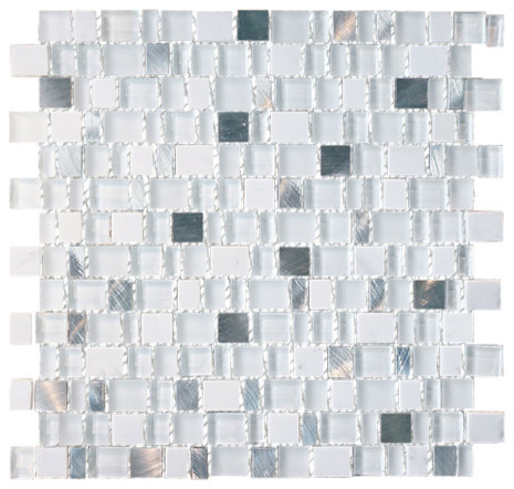 11 3/8 X 11 7/8 South Pole Cube Glass Mix With Aluminum Tile Sheet.