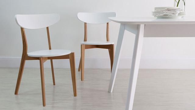 Oak & White Senn Dining Chair