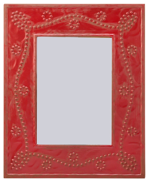 Cassidy Metal Frame With Stamped Vine Pattern Red 5x7