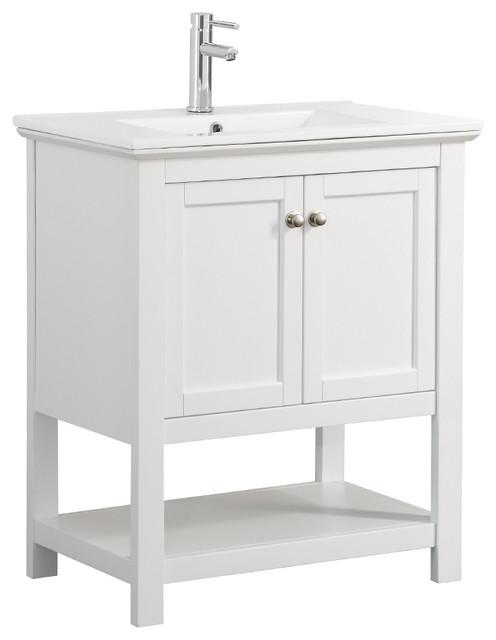 "30 Bathroom Vanity With Top: Manchester 30"" Traditional Bathroom Vanity"