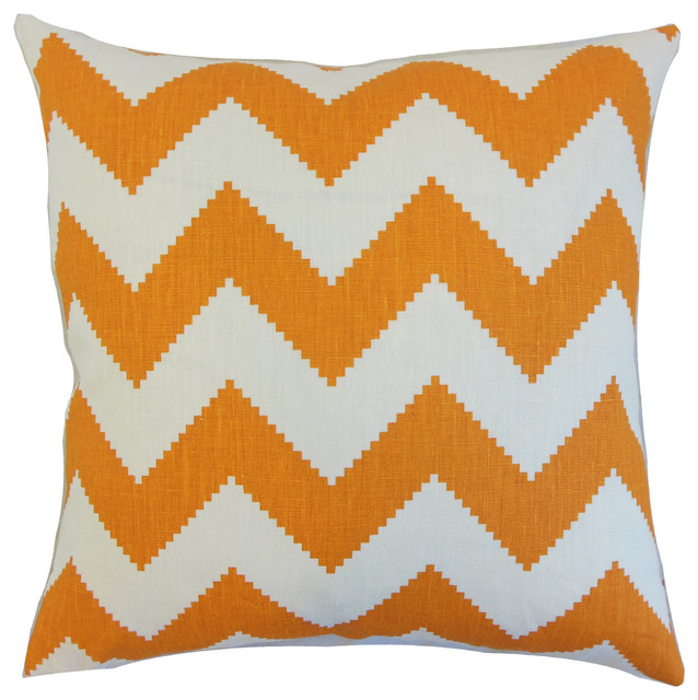 The Pillow Collection Maillol Zigzag Bedding Sham Smoke Queen//20 x 30