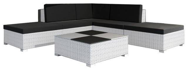 Vidaxl Garden Lounge Set 15 Pieces Poly Rattan White Tropical