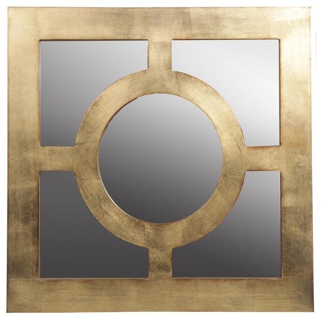 privilege gold circle accent mirror
