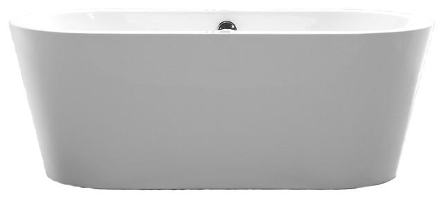 Vanity Art Free Standing Acrylic Bathtub Large Contemporary Bathtubs B