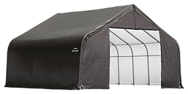 Shelter Logic Outdoor Sheltercoat Garage 22&x27;x20&x27;x11&x27;, Peak Standard, Gray.