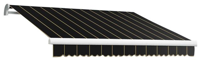 18&x27; Maui-Lx Manual Retractable Awning, Black Pin.