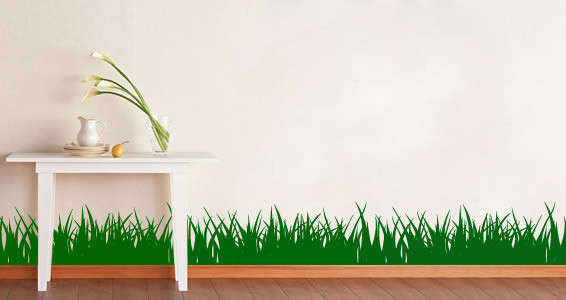 grass wall border wall decal, set of 4 sections - traditional - wall