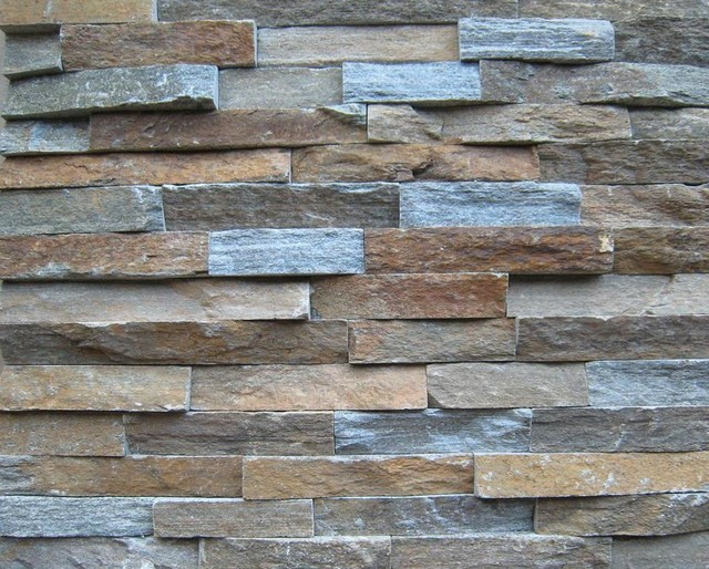 Stack Stone Veneer Panel Artistic Contemporary Siding