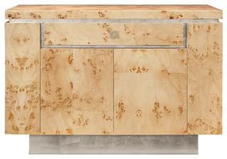 Worlds Away Burl Wood Bar Cabinet SHILOH BWS