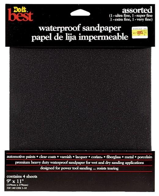 Ali Industries 4 Pack Assorted Wet Sandpaper 330140, 10-Pack