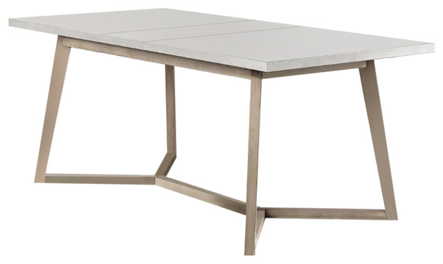 Amiable Dining Table, Light Gray Antique Beige.
