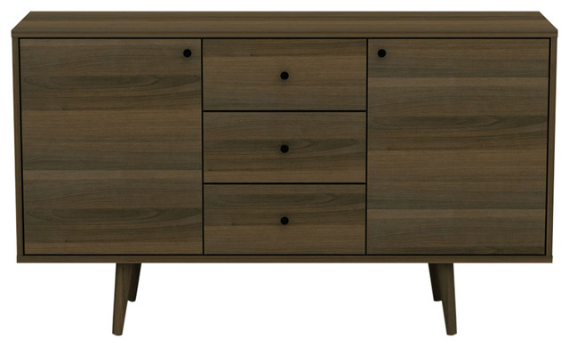 Dorothy Buffet Cabinet, Walnut   Midcentury   Buffets And Sideboards   By  DG Casa