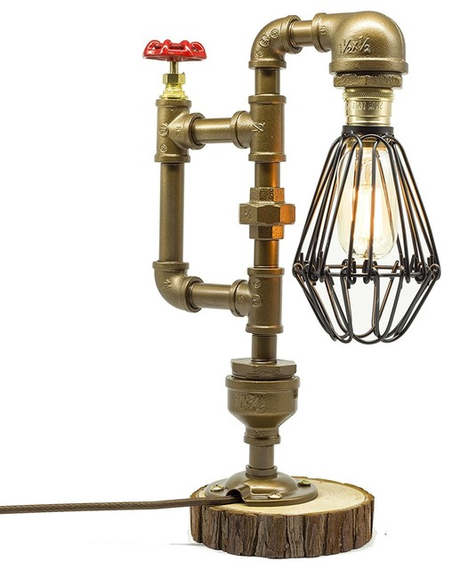 Steam Punk Industrial Table Lamp
