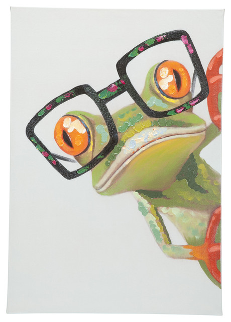 Peeking Frog Wall Decor.