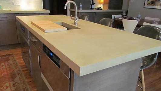 Concrete countertops kitchen modern chicago by for Concrete kitchen countertops reviews