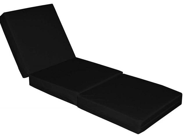 Large Cube Sofa Bed Upholstered, Soft Fabric, Black