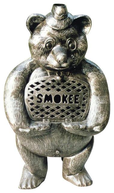 Smokee Bear Chimenea Fireplace w Grill - Fire Pits - Rustic ...