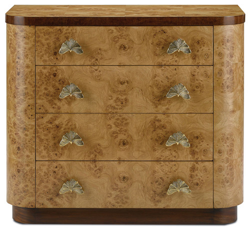 Currey & Co 3000-0022 Tadley Oak Burl Veneer Storage Chest