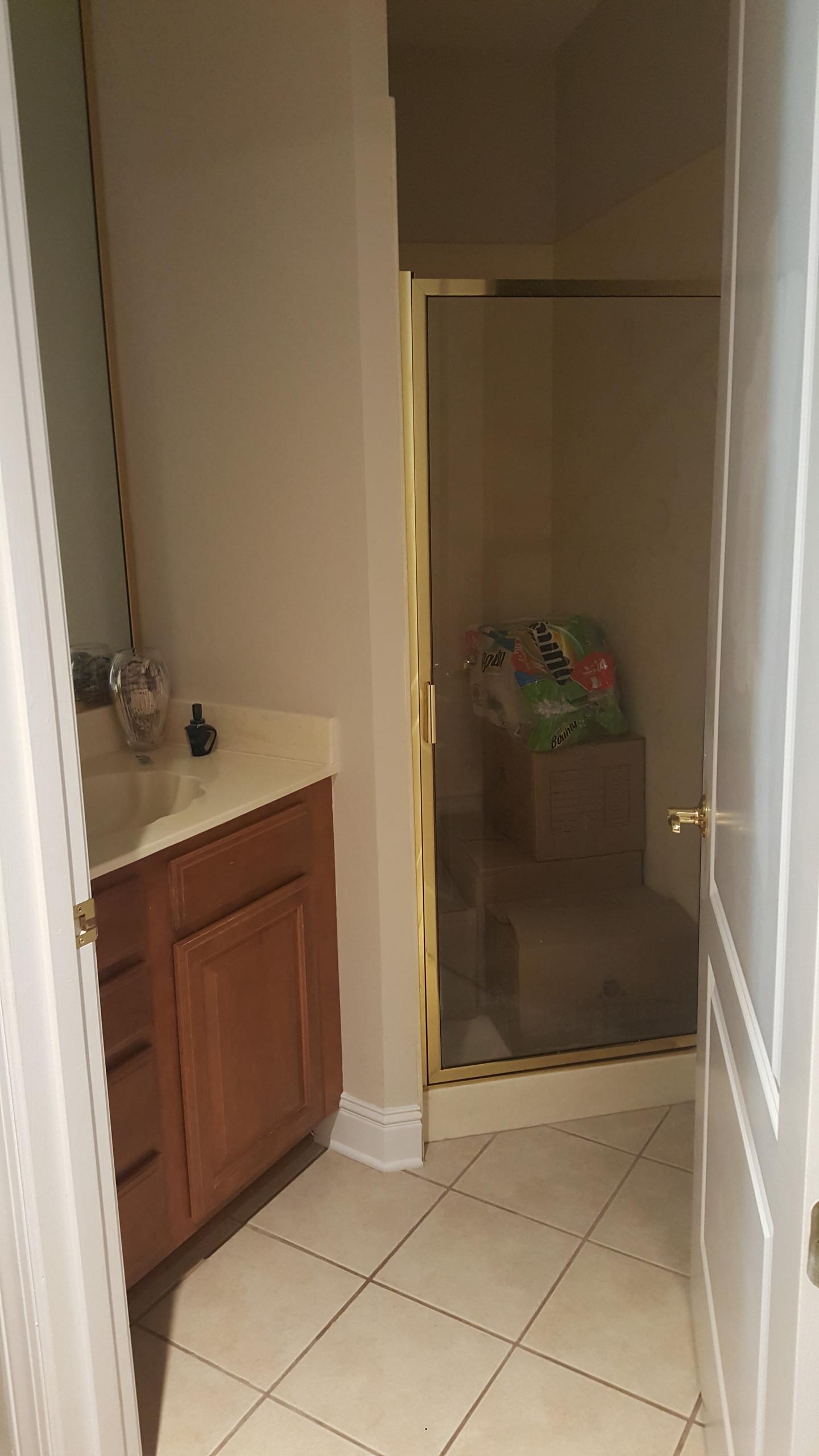 Original full bathroom turned into a half bath