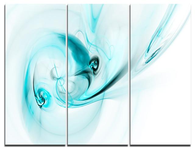 """colored Smoke Light Blue"" Digital Canvas Print, 3 Panels, 36""x28""."