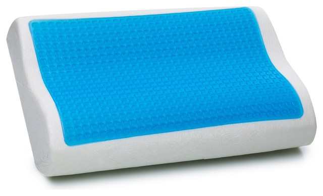 beliani contour molded memory foam pillow with gel neck