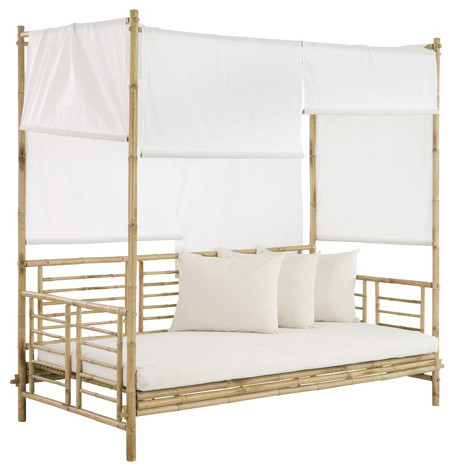 Bamboo Daybed With Canopy tropical-daybeds  sc 1 st  Houzz & Zero Emission World - Bamboo Daybed With Canopy - View in Your ...