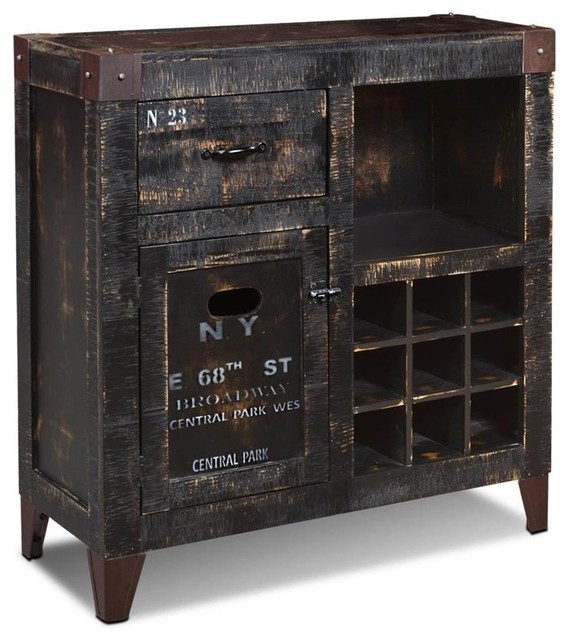 Rustic Wine Cabinet Furniture Home Decor