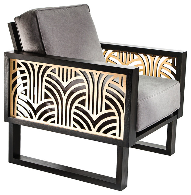 Magnificent Twist Modern Gray Art Deco Lounge Chair Spiritservingveterans Wood Chair Design Ideas Spiritservingveteransorg