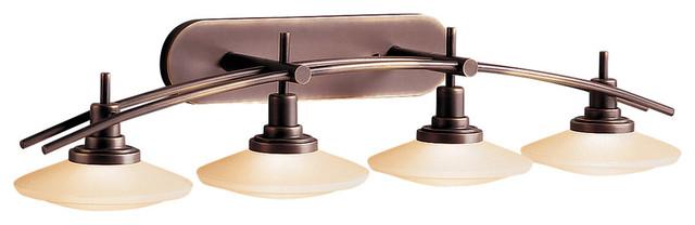 Kichler Lighting 6464oz Structures Olde Bronze 4 Light Vanity.