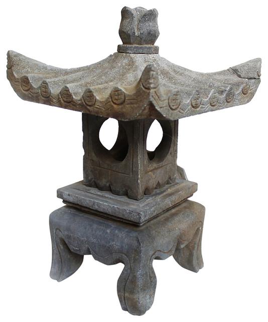 Stone Garden Pagoda Statue Asian Garden Statues And Yard Art