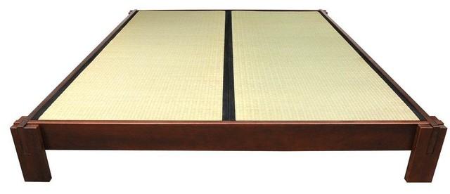 tatami platform bed - walnut - platform beds -oriental furniture