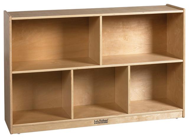 Birch 30 Storage Cabinet, 5 Compartments.