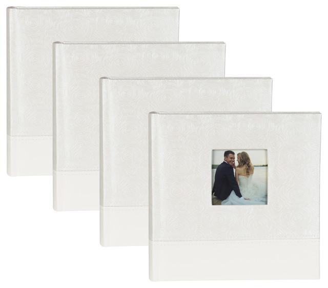 Designovation Wedding Photo Album Holds 200 4x6 Photos Set Of 4