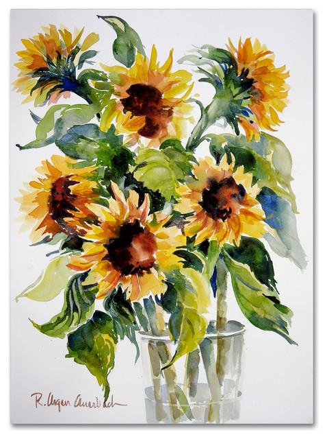 &x27;sunflowers&x27; Canvas Art By Rita Auerbach.