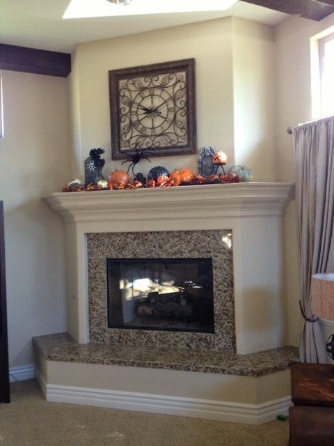 We are about to remodel our fireplace. We are removing the granite and mantel