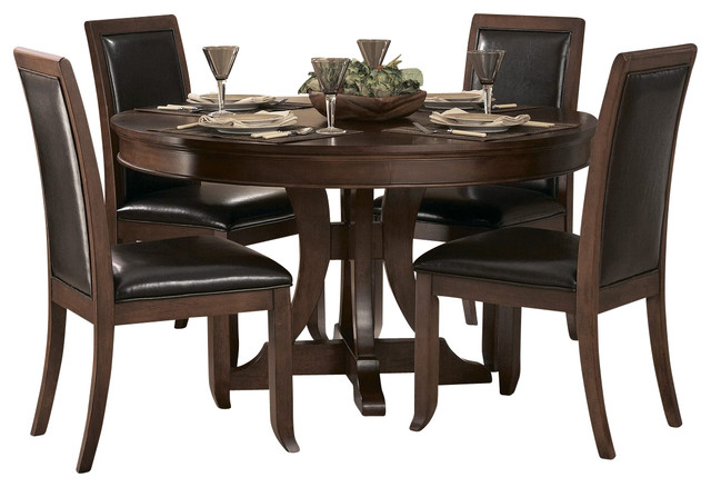 Shop houzz homelegancela inc homelegance avalon 54 inch for Dining room tables 48 round