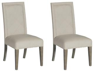 Gabby Verona Oak Frame Dining Chairs, Set of 2