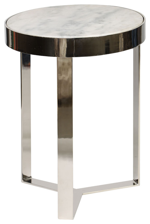 Contemporary accent table black or white granite for Designer occasional tables