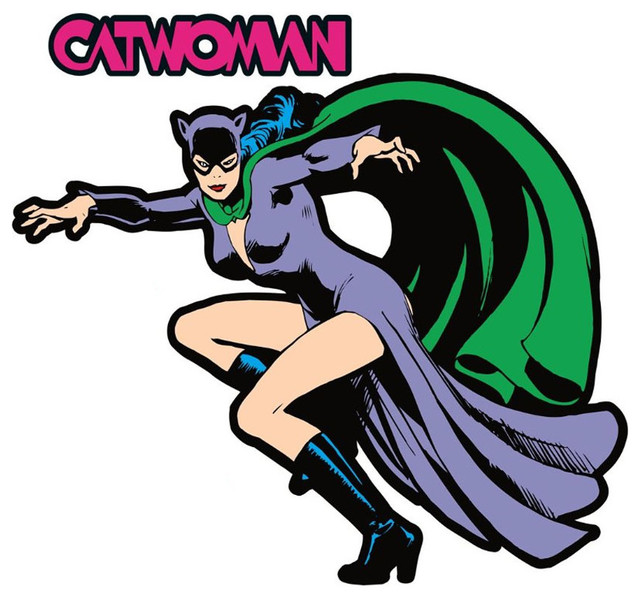 DC Comics DC Comics Catwoman Fathead Batman Villain Wall ...