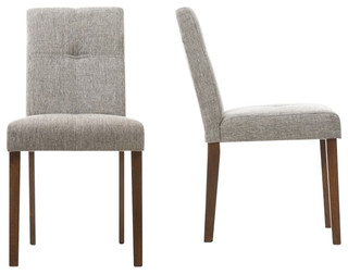 Elsa Gray Linen Dining Chairs, Set of 2