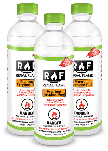 Regal Flame Ultra Pure Ventless Bio Ethanol Fireplace Fuel, 3 Quarts