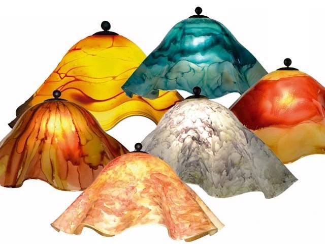 Large Glass Lamp Shade - Craftsman - Lighting Globes And Shades ...