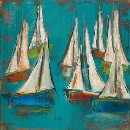 sailboats aqua by melissa lyons canvas print fine art prints by