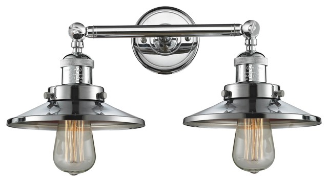 Polished Chrome 2 Light 18 Bath Vintage Bulbs
