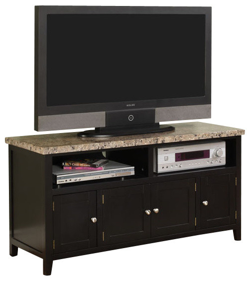 TV Stand, Black Finish   Transitional   Entertainment Centers And Tv Stands    By 2K Furniture Designs