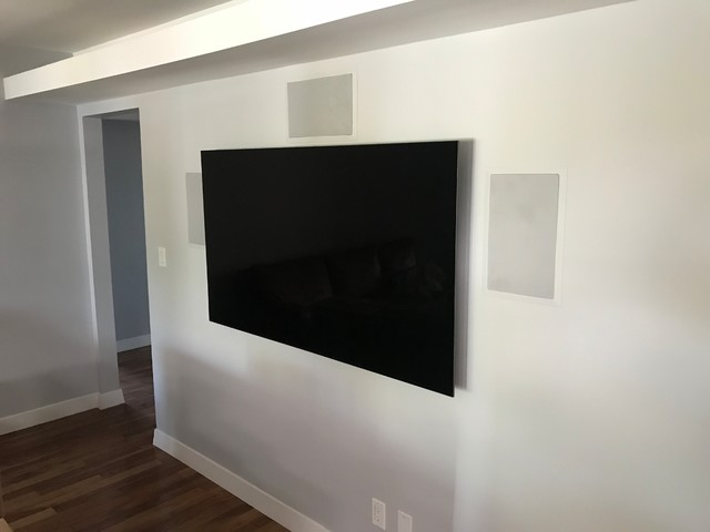 Inspiration for a transitional home theater remodel in Phoenix