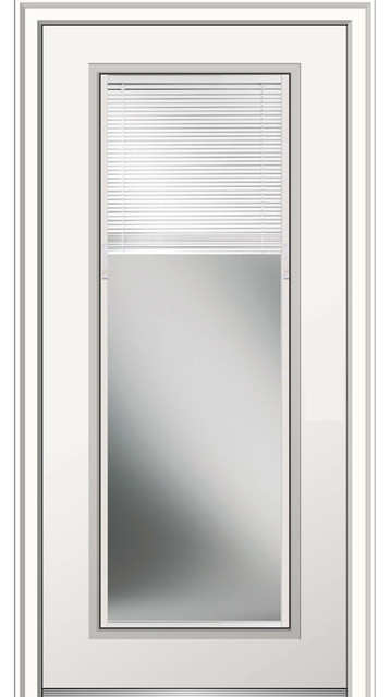Full Lite Steel Mini Blinds Transitional Front Doors By Verona Home Design