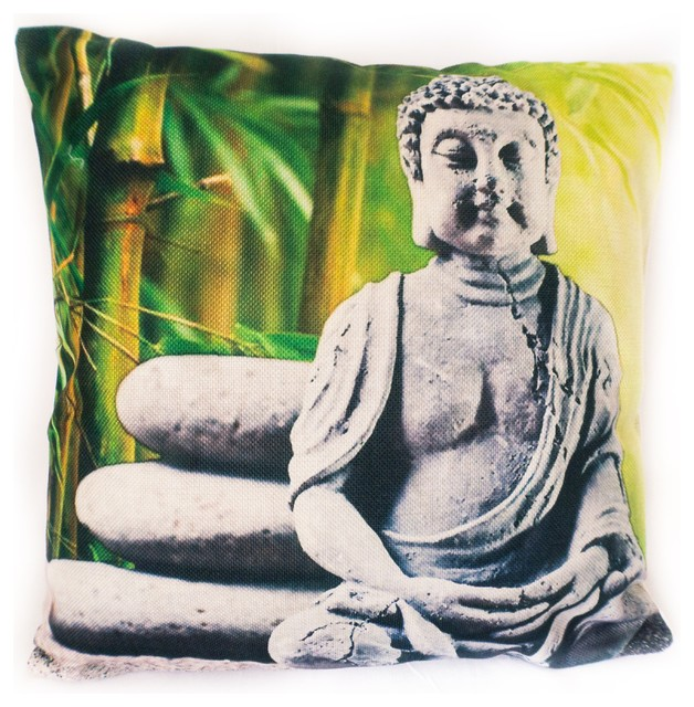 Buddha Pillow Cover Linen Top Quality Asian Decorative Pillows Awesome Buddha Decorative Pillows