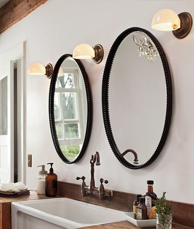Two Medicine Cabinets Mirrors Over Single Sink Vanity