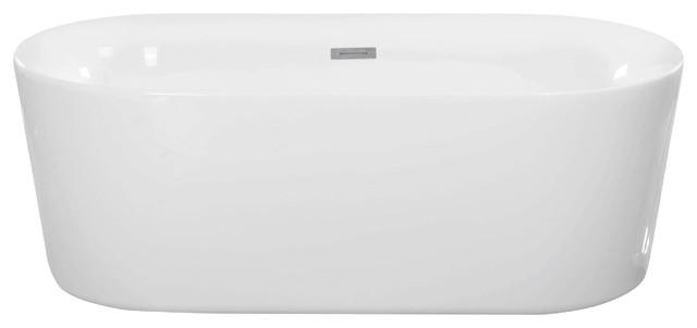 freestanding tub. Maykke  Dewey Oval Freestanding Bathtub White Acrylic 59 Bathtubs Houzz